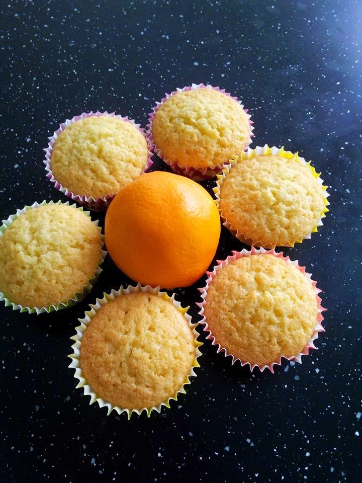Easter Sunday bake - Orange Cupcakes