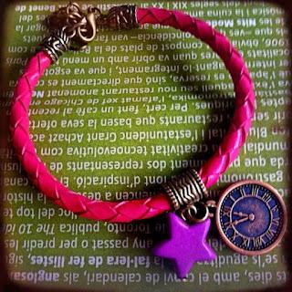 Happy Uky Pulseras Kenia cuero rosa reloj estrella