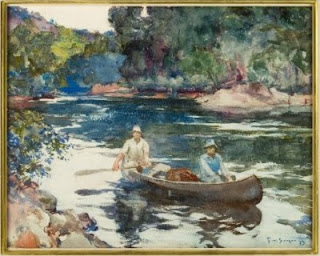 Image: Downstream, 1923, by Frank Weston Benson