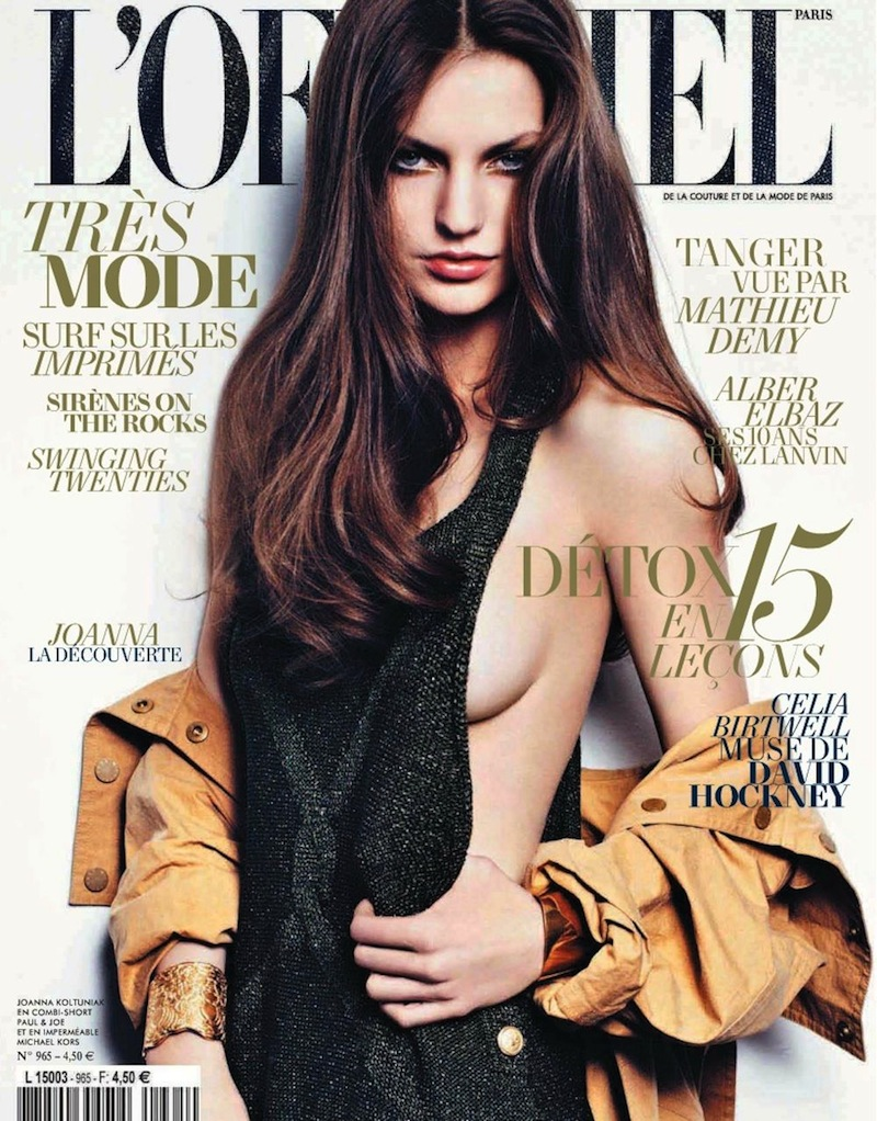 L'Officiel Paris May 2012 : Joanna Koltuniak by Thomas Nutzl