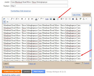 Cara Membuat Read More di Postingan Blog