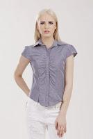 Camasa bleumarin cu imprimeu dungi albe TC117 (Ama Fashion)