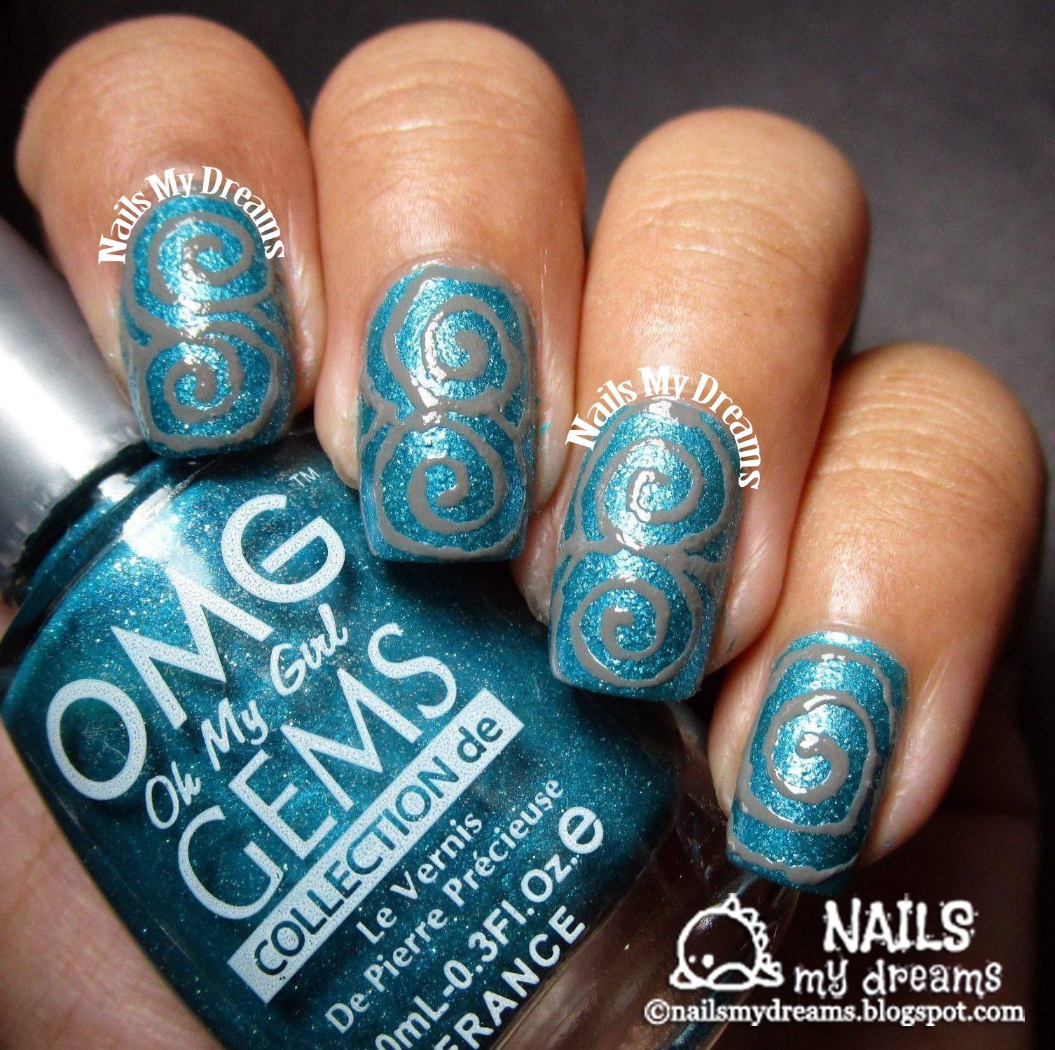 Nails My Dreams Swirls Nail Art