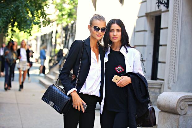Kate Grigorieva and Irina Sharipova, New York, September 2015