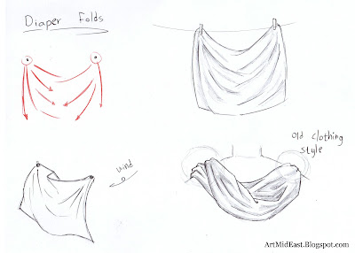 how to draw folds diaper
