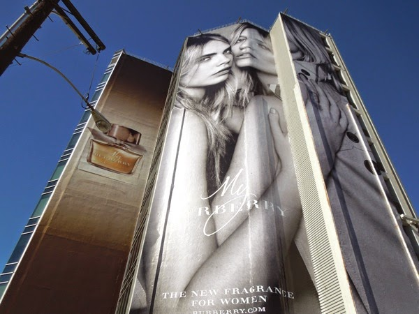 Giant My Burberry fragrance billboard