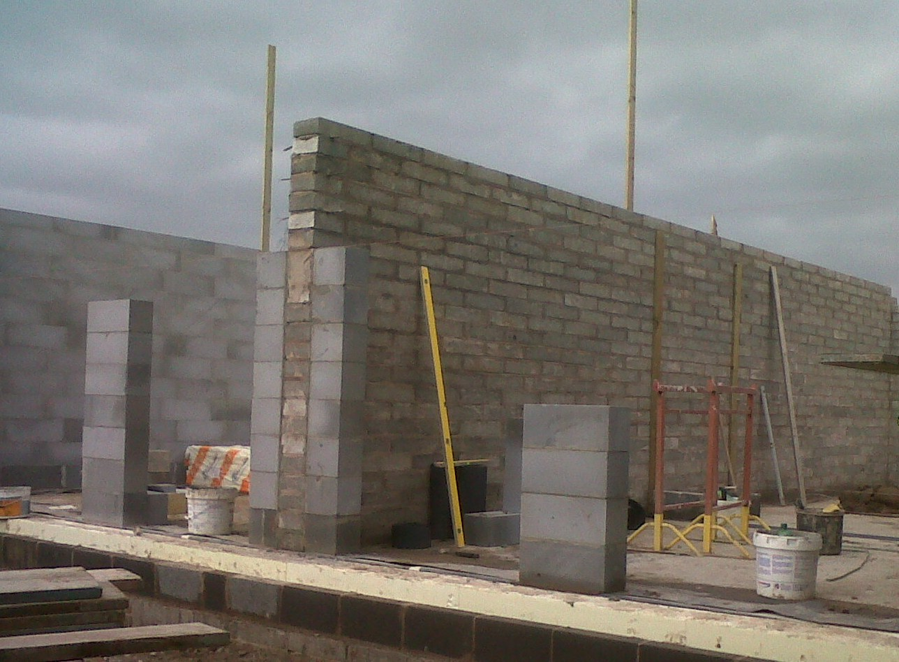 Passive house for Cinder block house construction