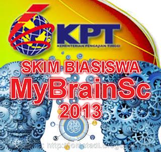 Biasiswa MyBrainSc 2013 Untuk Ph.D, Sarjana, Ijazah Pertama Tawaran Kementerian Pengajian Tinggi (KPT)
