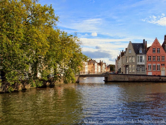 Bruges, Belgium in Autumn - walking along the canals
