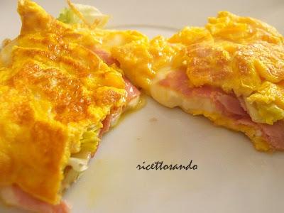 Omelette al prosciutto ricetta a base di uova