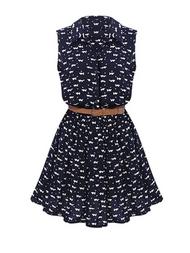 Model dress pendek tanpa lengan terbaru