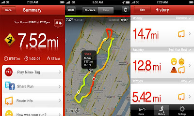 Nike+ GPS iPhone application