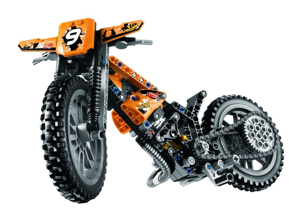 my lego style lego technic moto cross bike 42007. Black Bedroom Furniture Sets. Home Design Ideas