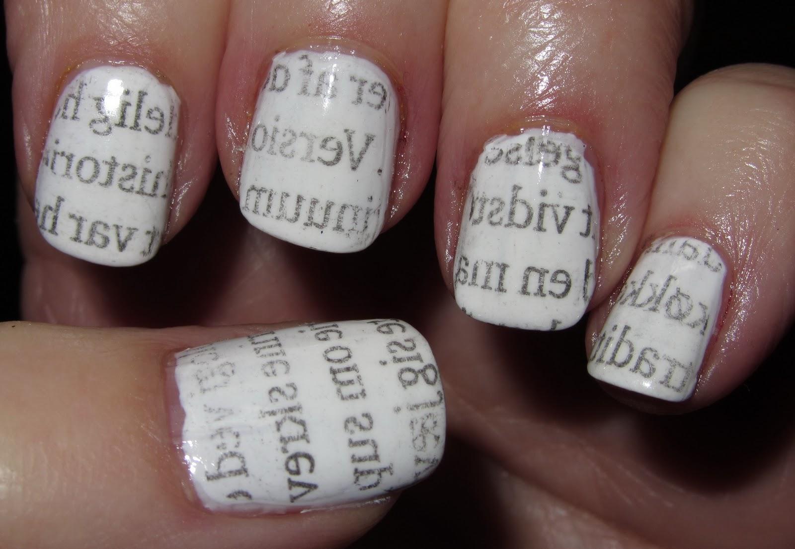 Marias Nail Art and Polish Blog: Newspaper nails – avis negle ...