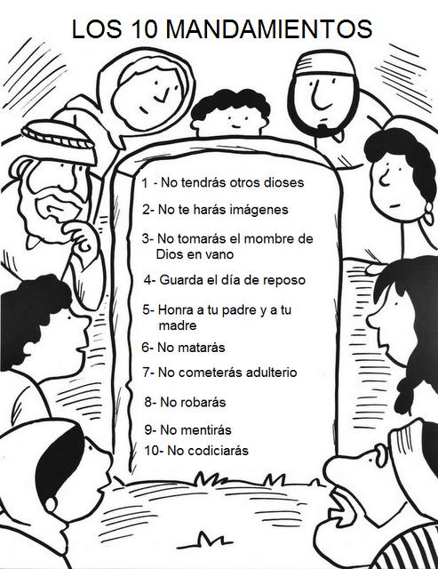 PASATIEMPOS Y CRUCIGRAMAS: Dibujos sobre los 10 Mandamientos