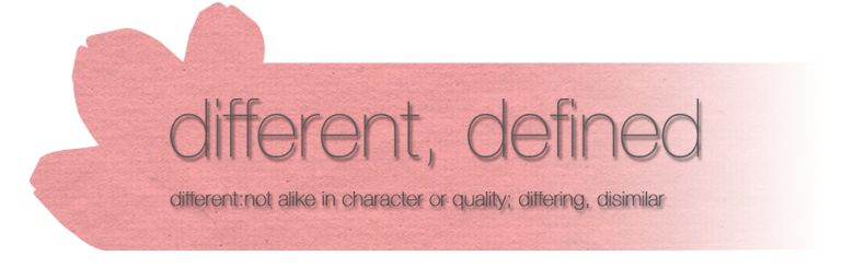 different, defined.