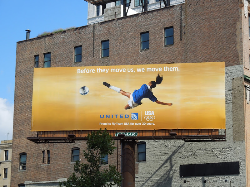 United Olympics 2012 womens soccer billboard NYC
