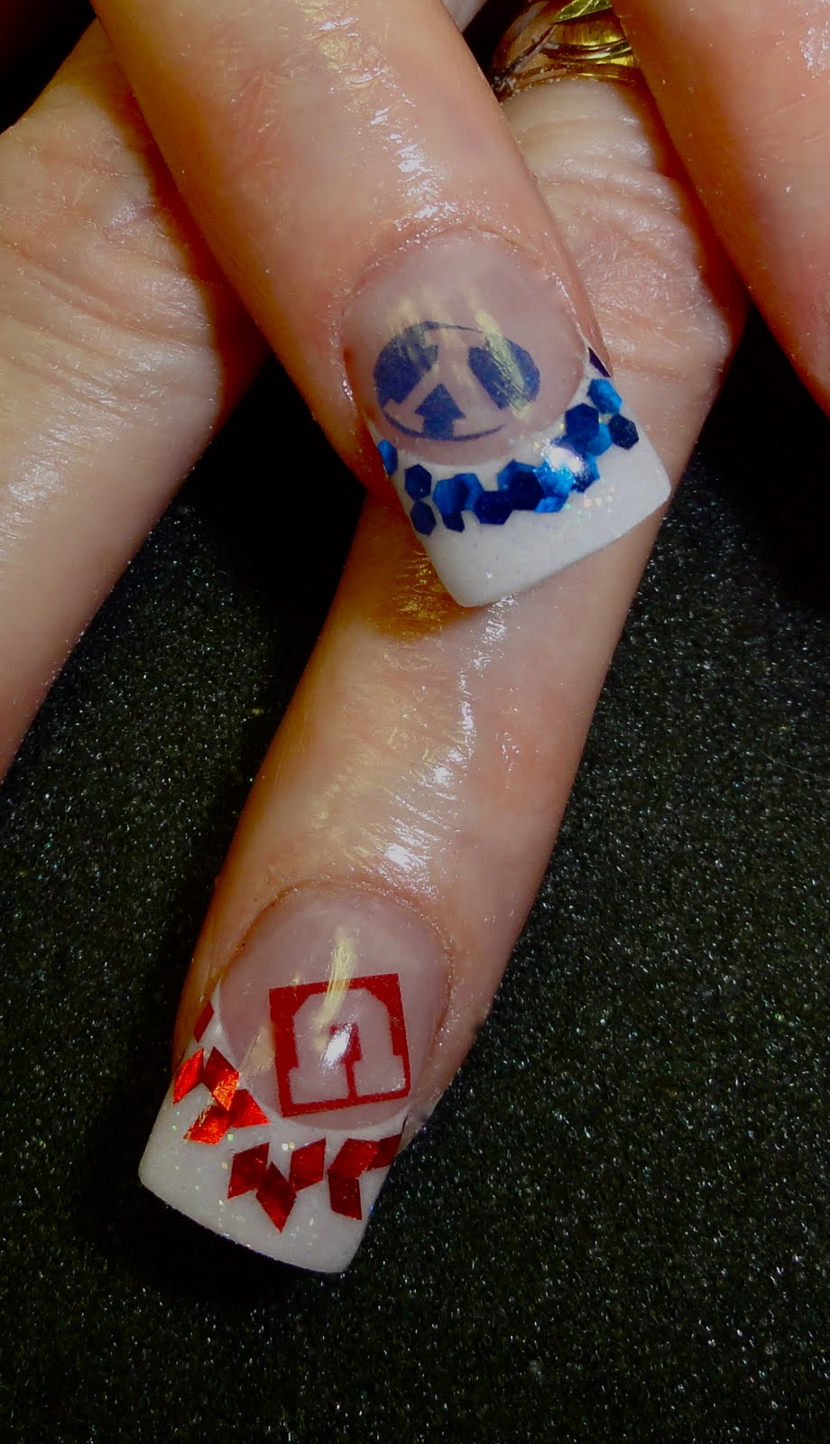 university of utah byu nail art she couldn 39 t decide lol