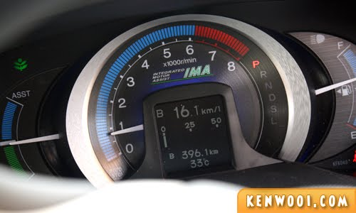 honda insight meter