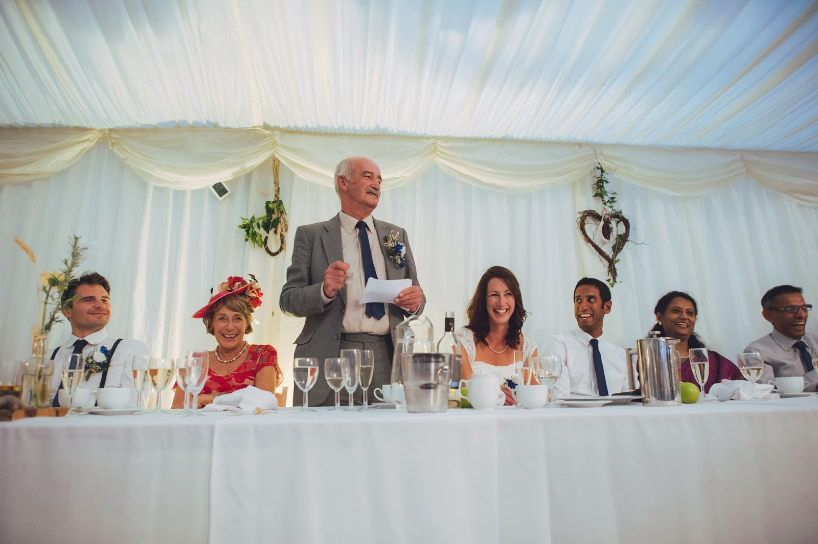 Father of Bride speech at Quantock Lakes wedding