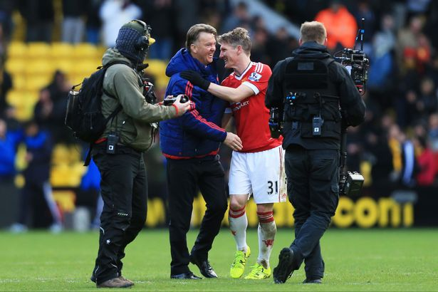 A happy United camp after the recent win at Watford