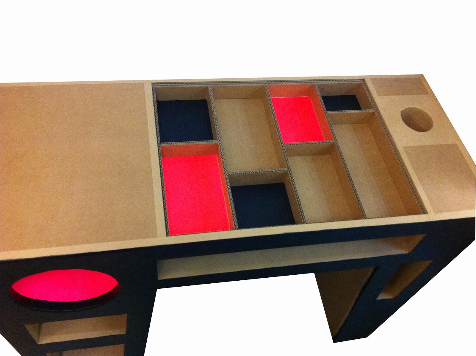 Juliadesign meuble en carton bureaux - Meuble a chaussures en carton ...