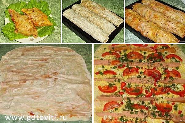 Рецепт приготовления лаваша с начинкой в домашних условиях 517