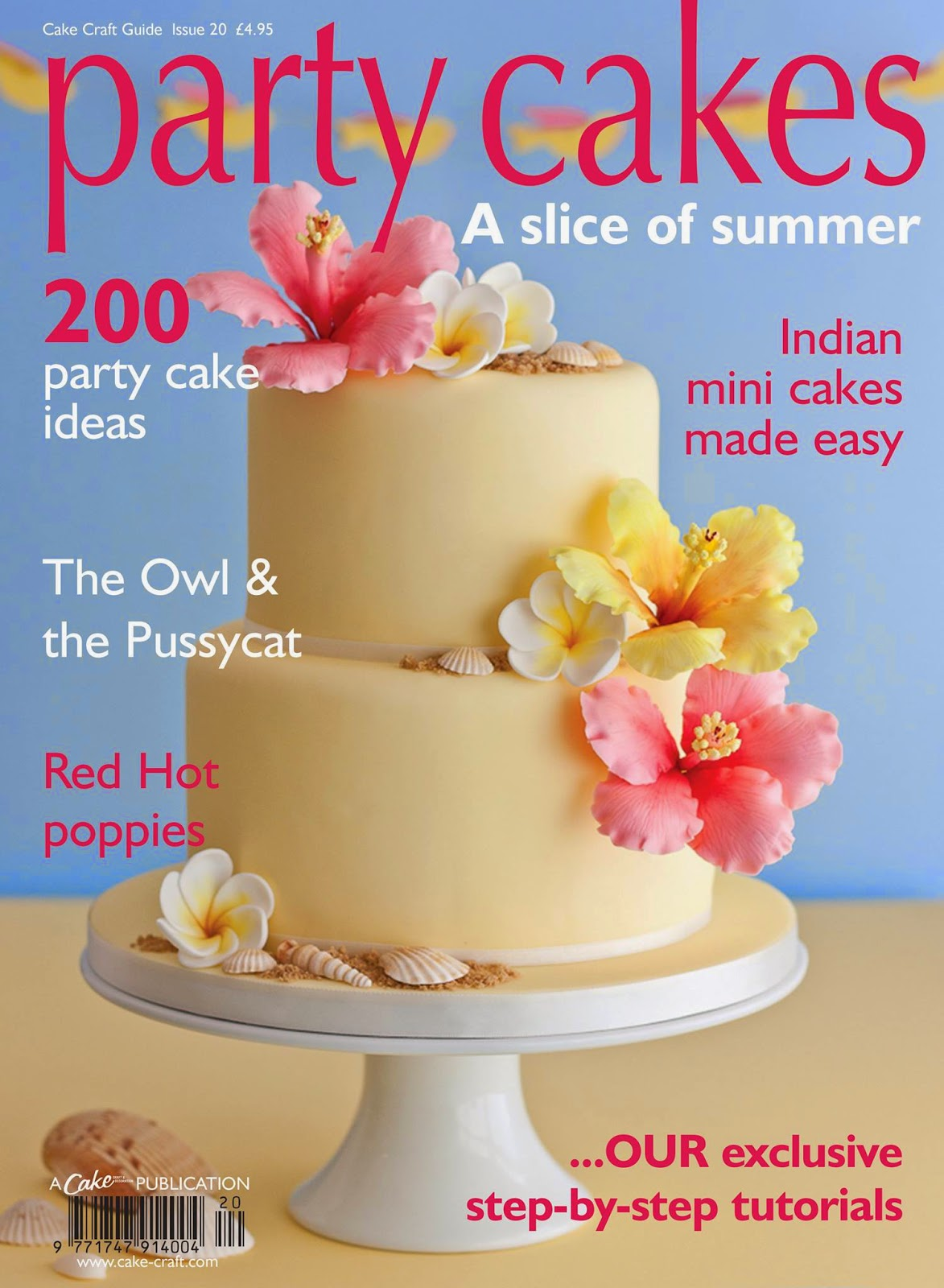 Party cakes magazine cover the magazine is out now and features my step by step tutorial for how to make this cake including how to make hibiscus and frangipani sugar flowers izmirmasajfo