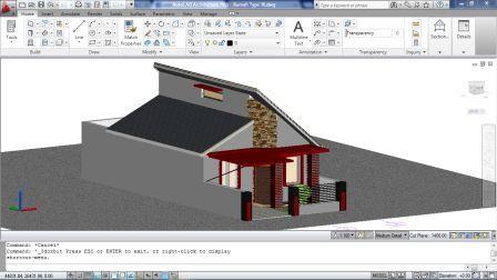 Merancang Rumah Dengan Autocad Architecture