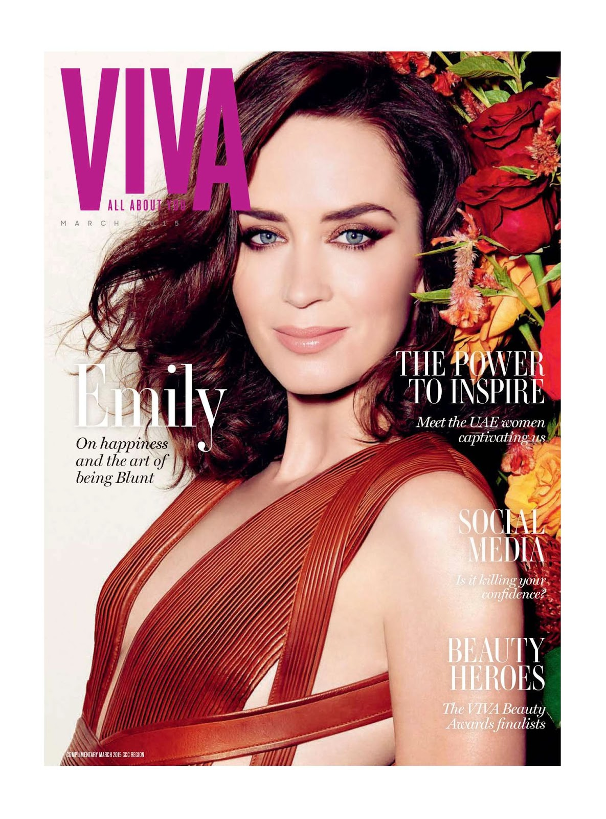 Actress @ Emily Blunt - VIVA Middle East, March 2015 Issue