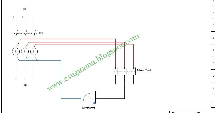 Etnik Sugitama Engineering  Gambar Diagram Ampere Meter Pada Listrik 3 Phase Dengan Selector Switch