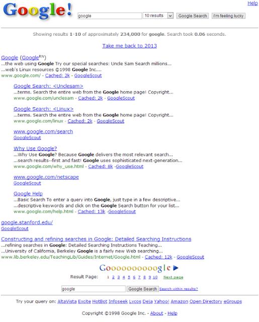 Google's 15th Birthday Easter Egg