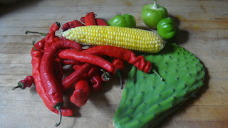 Kitchen Inferno: Cactus and Corn Salsa