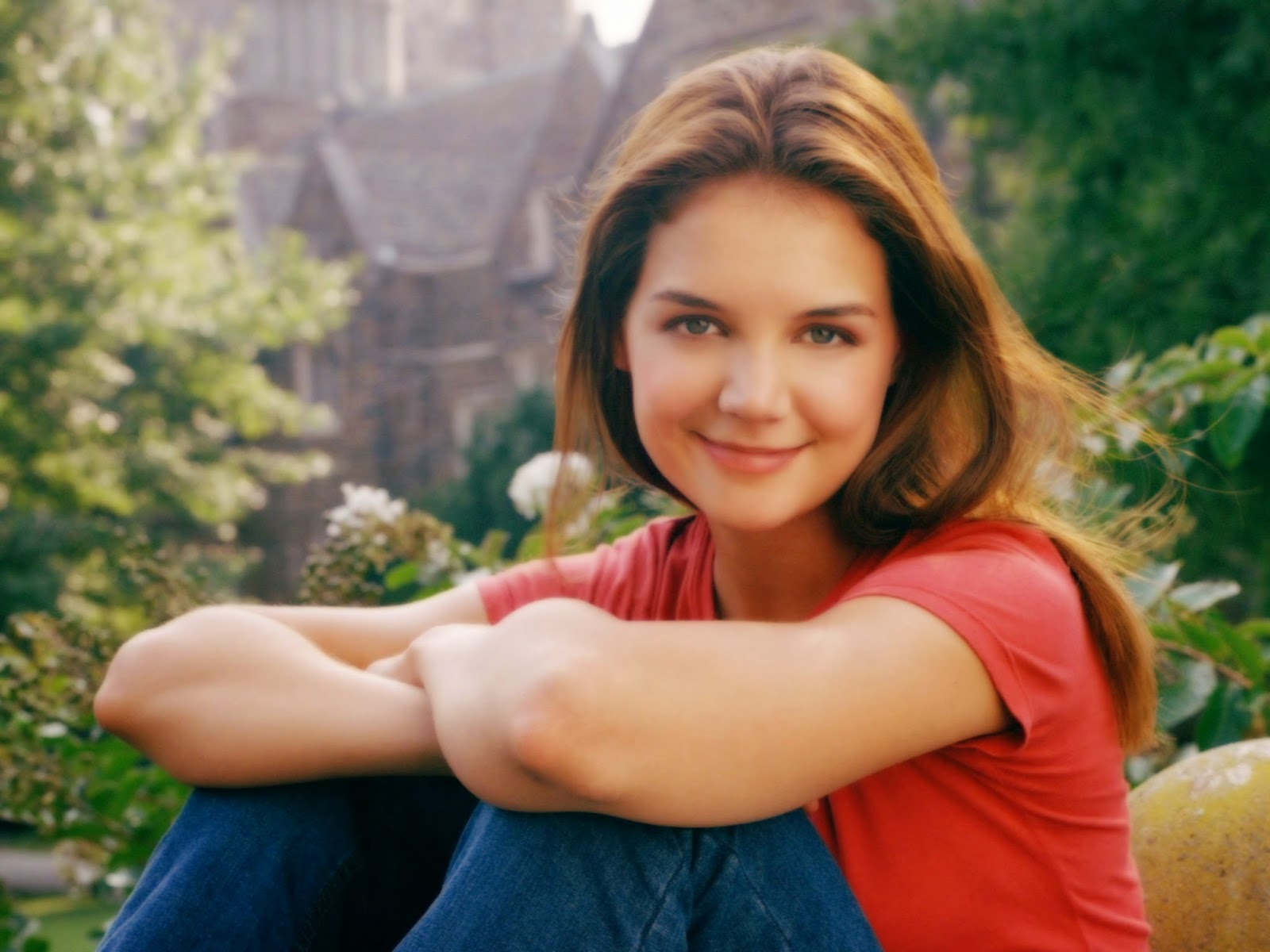 Katie Holmes American Hollywood Actress in Red with Nice HD Pics
