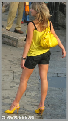 Girl wearing black cotton shorts