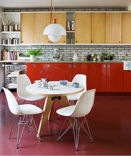 Braxton and yancey mid century modern kitchens for Mid century modern kitchen cabinets