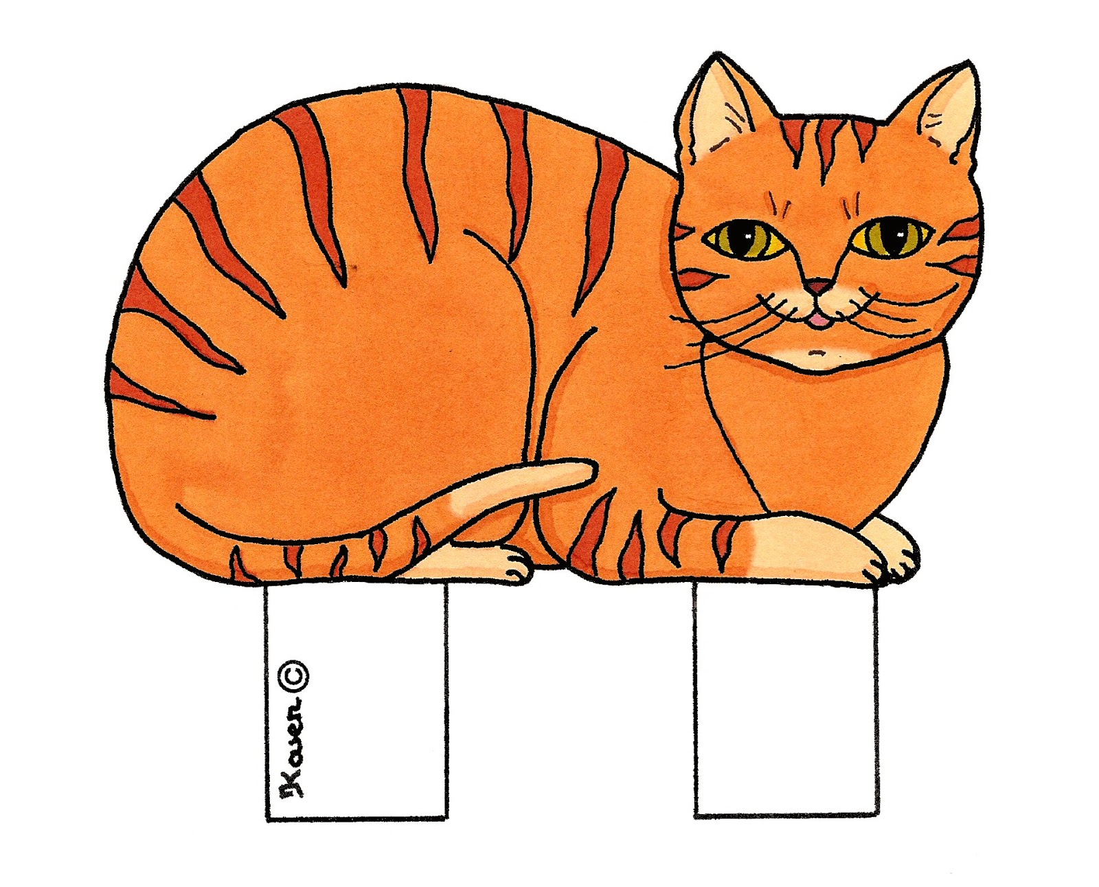 Cats Out-Cuts to Print in Colours.