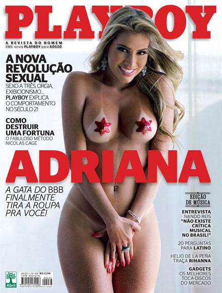 Confira as fotos da gata do Big Brother Brasil 11, Adriana Sant'anna, capa da Playboy de setembro 2011!