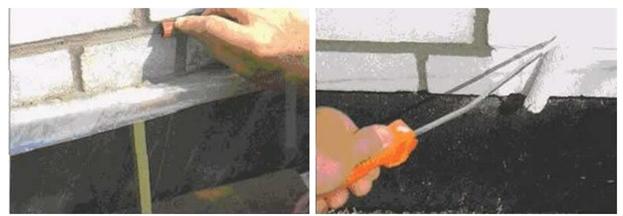 Чистовая отделка стыков кирпичной кладки