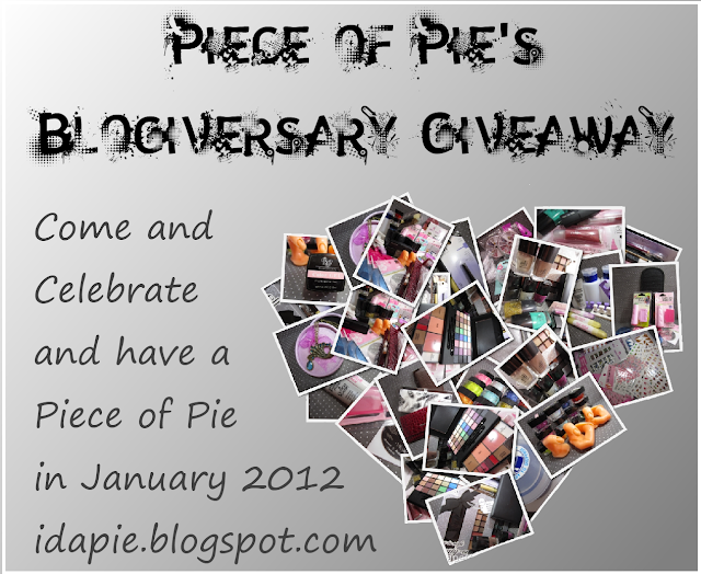 Pie's Blogiversary Giveaway - OPEN (jan)
