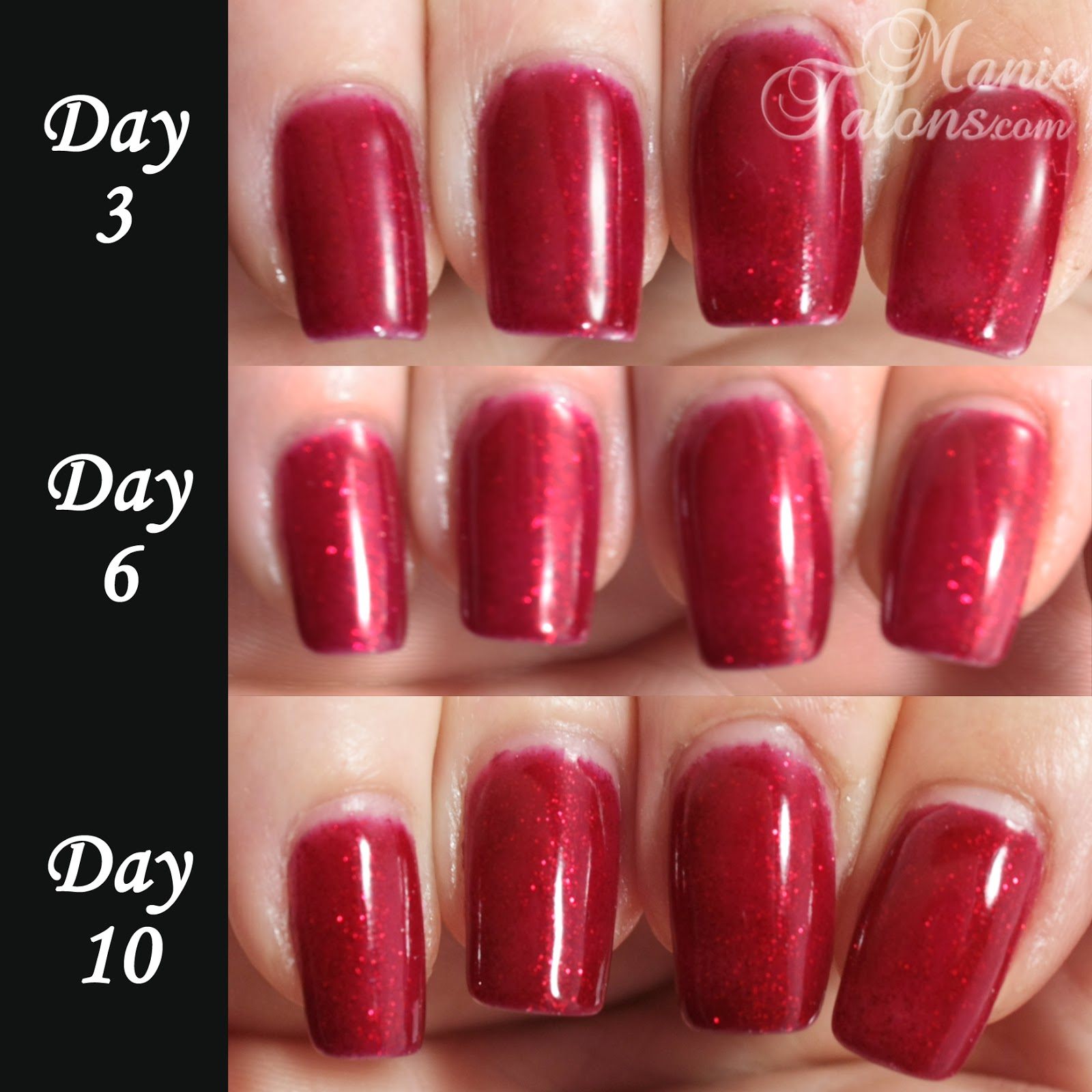 Gelaze by China Glaze 10 Day Wear Test Results