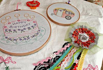 Birthday goodies! By (clockwise) Pam Pedersen, Melissa Loken and Tara Fields