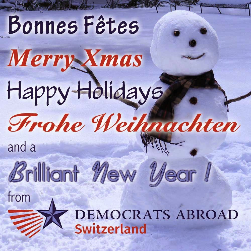 Happy Holidays from Democrats Abroad Switzerland
