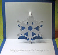 pop up snowflake card
