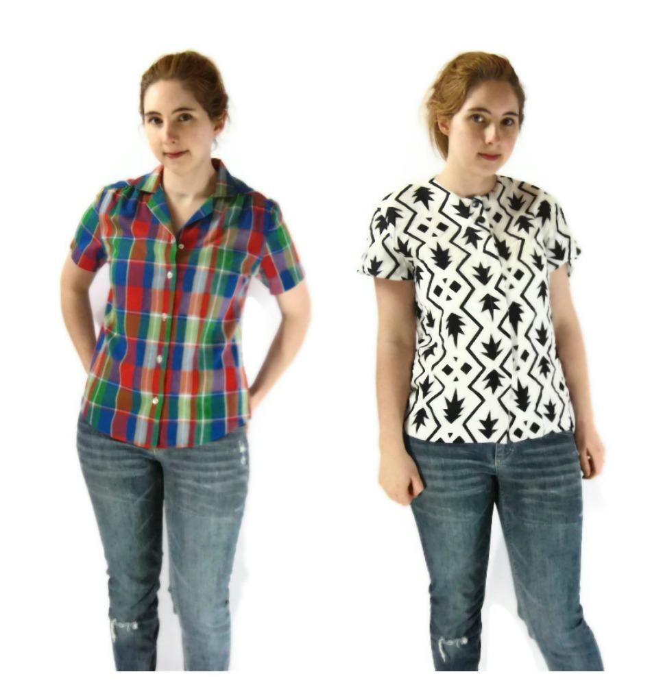 vintage spring blouses