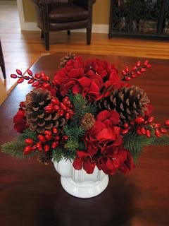 Navidad, Centros de Mesa, Rojo, parte 5