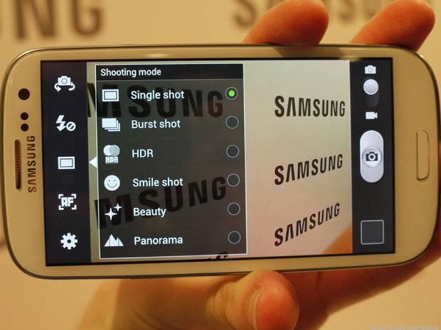 Câmera do Galaxy S III