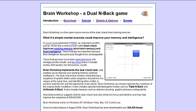 Brain Workshop, Medical Games