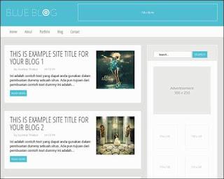 Blue Blog premium blogger template