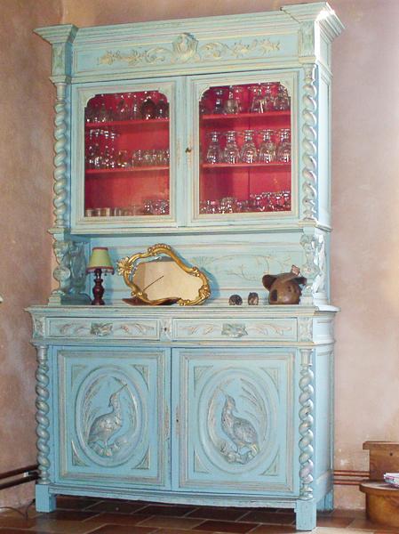 Dix vag 39 actions meuble peint style baroque for Meuble non peint